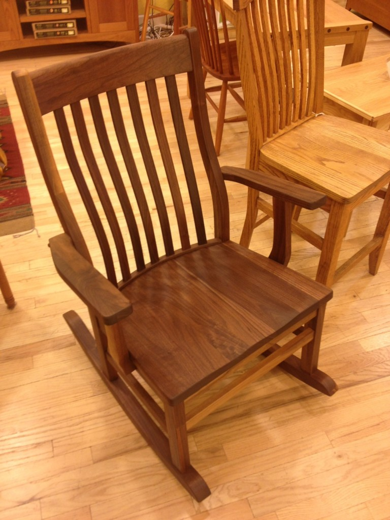 "Solid Walnut ""Mission"" Deluxe Rocker"