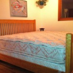 "Solid Cherry Skinny ""Mission"" King Bed"