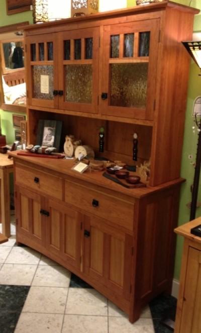 Cherry Quot Craftsman Quot Three Door Hutch Boulder Furniture Arts