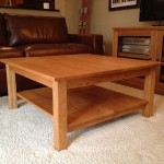 Solid Cherry Contemporary Square Coffee Table