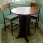 Custom Solid Walnut Pedestal Bistro Table
