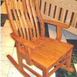 "Solid Cherry Amish-made ""Mission"" Rocker"