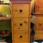 "Solid Pine 3-Drawer ""Southwest"" File Cabinet"