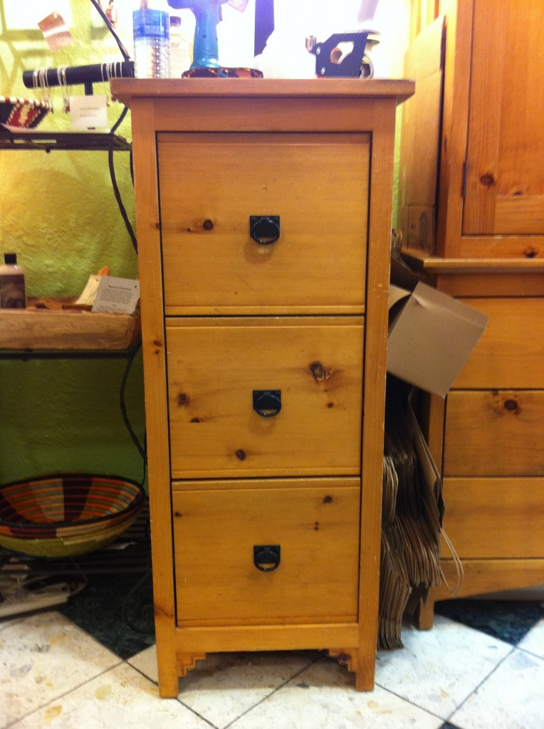 "Pine ""Southwest"" File Cabinet"