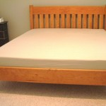 "Solid Cherry Queen ""Mission"" Platform Bed"