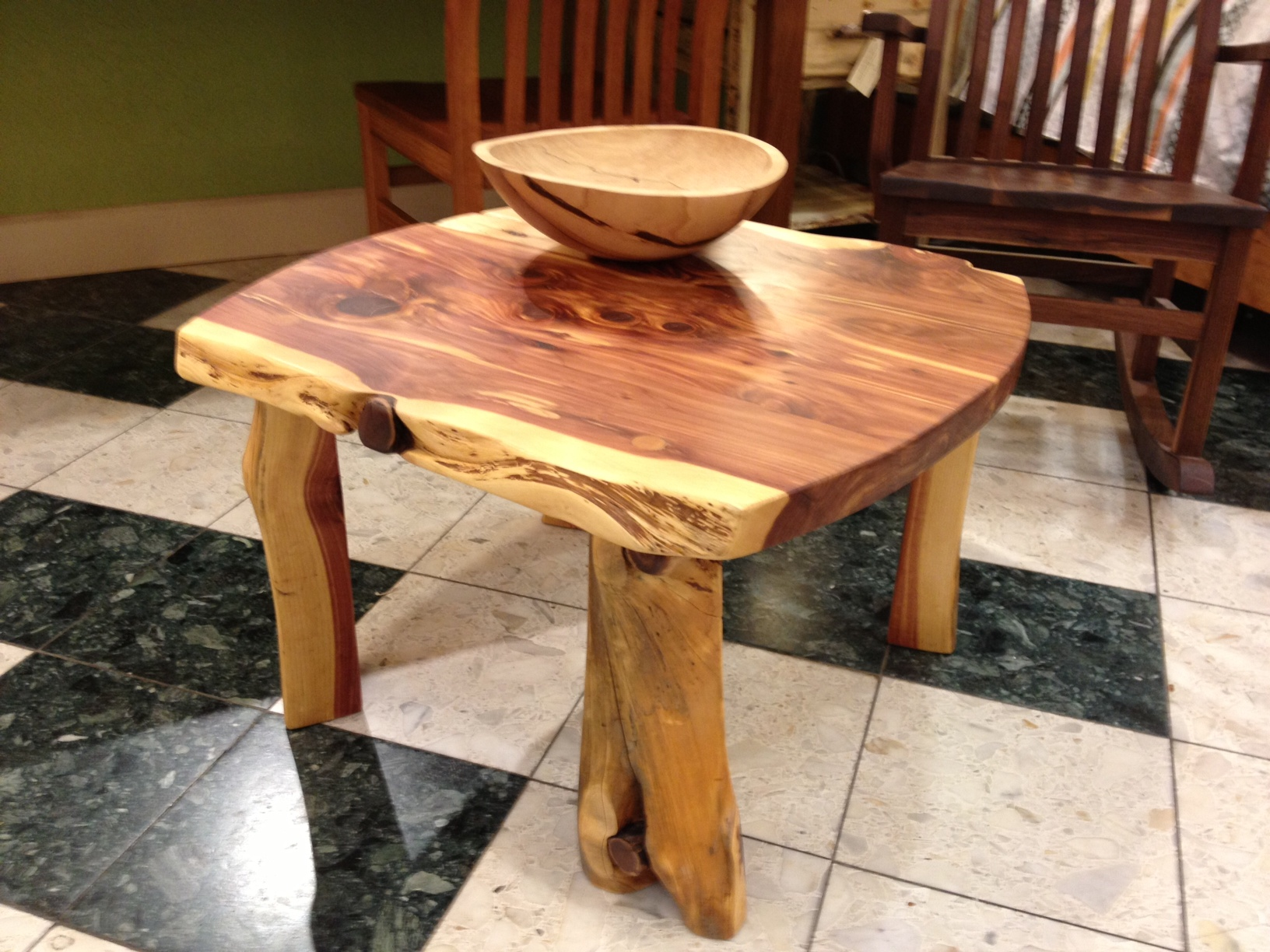 Solid Red Cedar Coffee Table