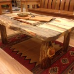 Solid Beetlekill Blue Pine Coffee Table