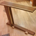 Solid Black Walnut Asymmetrical Sofa Table
