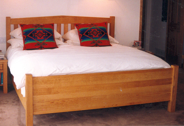 "Solid Cherry ""Peak"" Queen Bed with Solid Footboard"