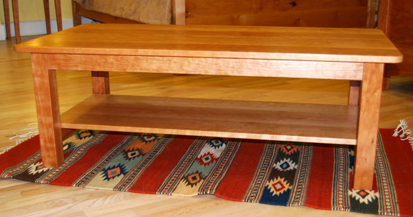 """Cherry Coffee Table solid cherry """"contemporary"""" coffee table 
