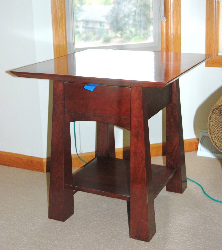 "Custom Cherry ""Colorado"" Nightstand (Stained)"