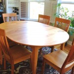 "Solid Cherry ""Prairie"" Dining Table with Turquoise Inlay"