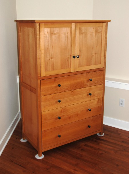 "Cherry ""Millman"" 4-Drawer Wardrobe"