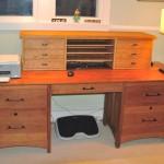 """Solid Cherry """"Prairie"""" Desk and Desktop Organizer"""