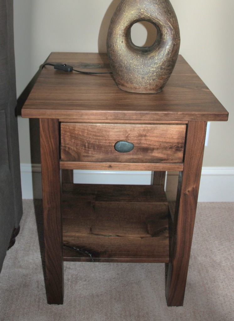 "Walnut ""Mission"" Nightstand"