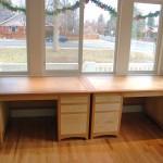 """Solid Cherry & Birdseye Maple """"Prairie"""" Desks"""
