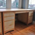 """Solid Cherry & Birdseye Maple """"Prairie"""" Desk"""
