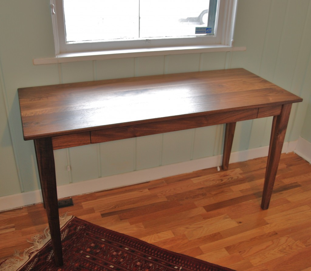 "Walnut ""Shaker"" Writing Desk with Drawer"