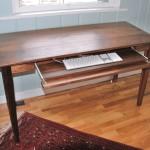 """Solid Walnut """"Prairie"""" Writing Desk"""