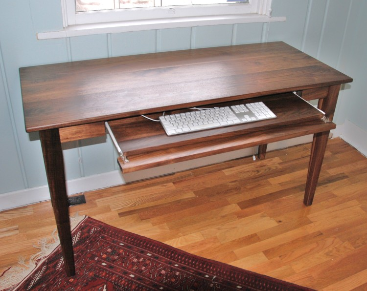 """Walnut """"Shaker"""" Writing Desk with Pull-Out Tray"""