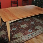 "Custom Solid Cherry and Maple ""Prairie"" Dining Table"