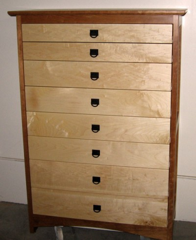 "Cherry & Maple ""Prairie"" 8-Drawer Dresser"