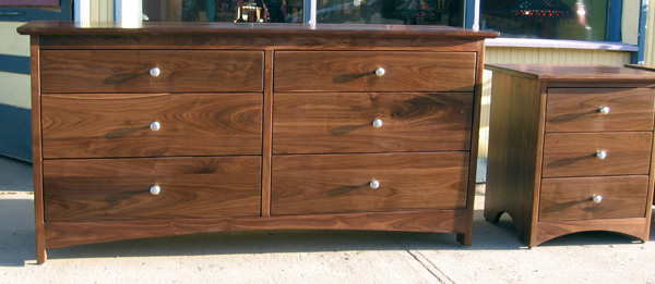 "Walnut ""Prairie"" 6-Drawer Dresser"