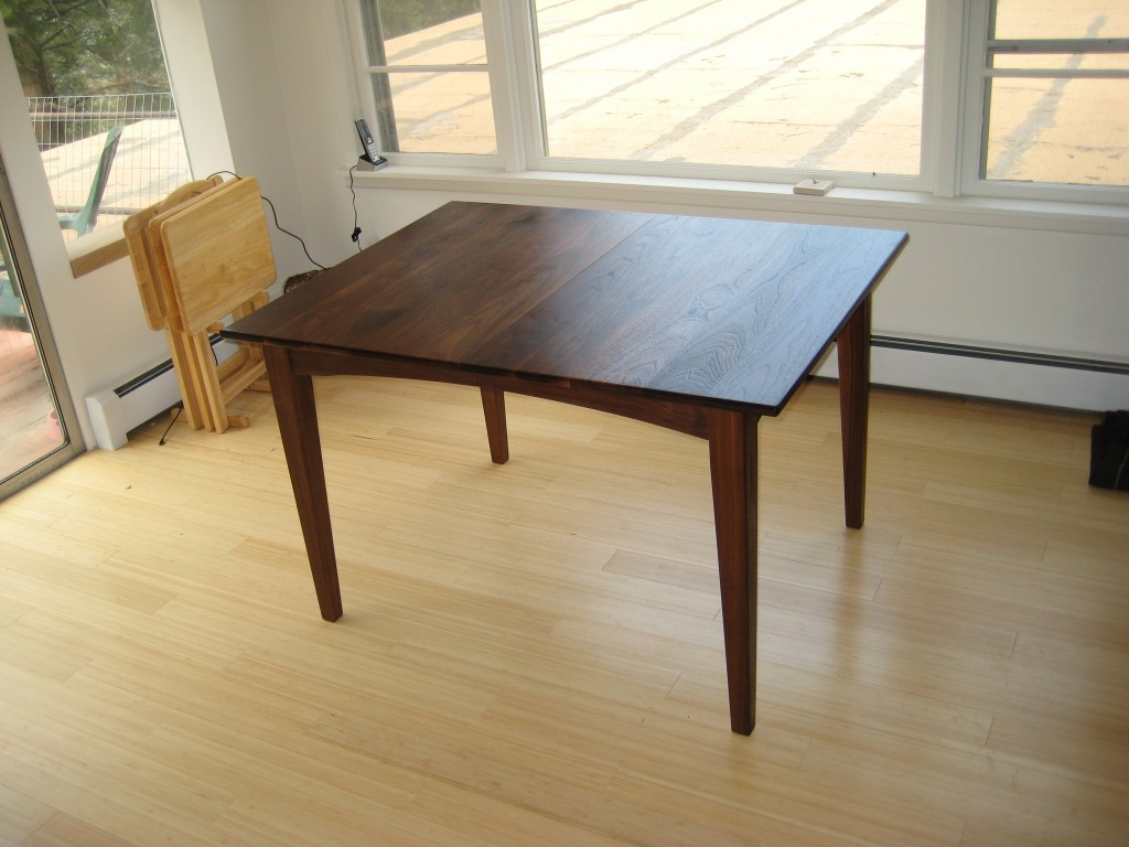 "Solid Walnut ""Prairie"" Dining Table"