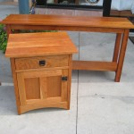 "Solid Cherry ""Mission"" Console Table"
