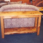 "Solid Pine ""Mission"" Sofa Table"