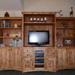 "Custom Knotty Alder ""Prairie"" Entertainment Center"