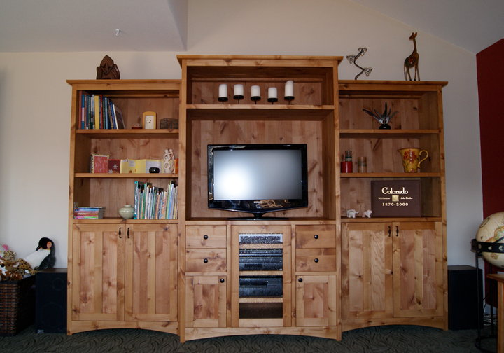 "Knotty Alder ""Prairie"" Entertainment Center"