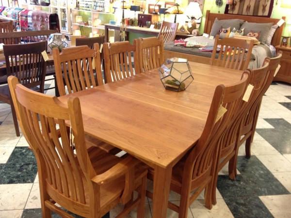 Solid Cherry Mission Dining Chairs Boulder Furniture Arts