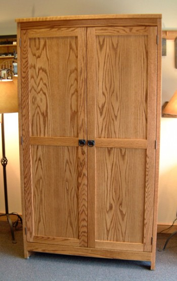 "White Oak ""Shaker"" Wardrobe"