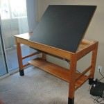 Custom Solid Cherry Drafting Table