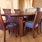 "Solid Walnut ""Carlisle"" Dining Chairs"