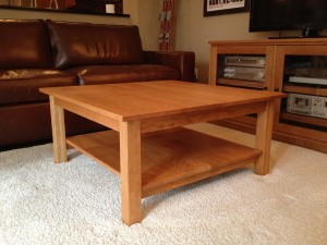 "Solid Cherry ""Mission"" Coffee Table"