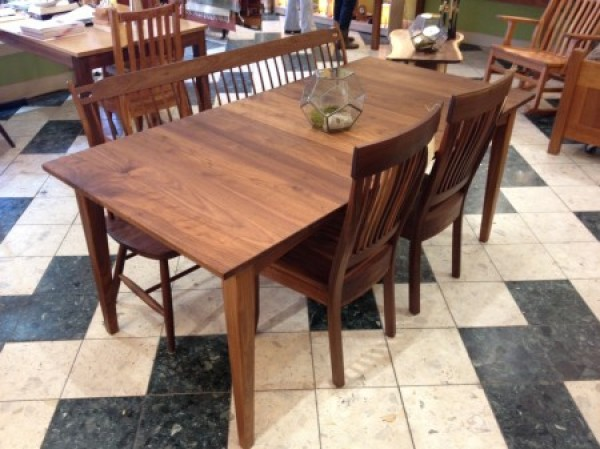 Solid Walnut Prairie Dining Table