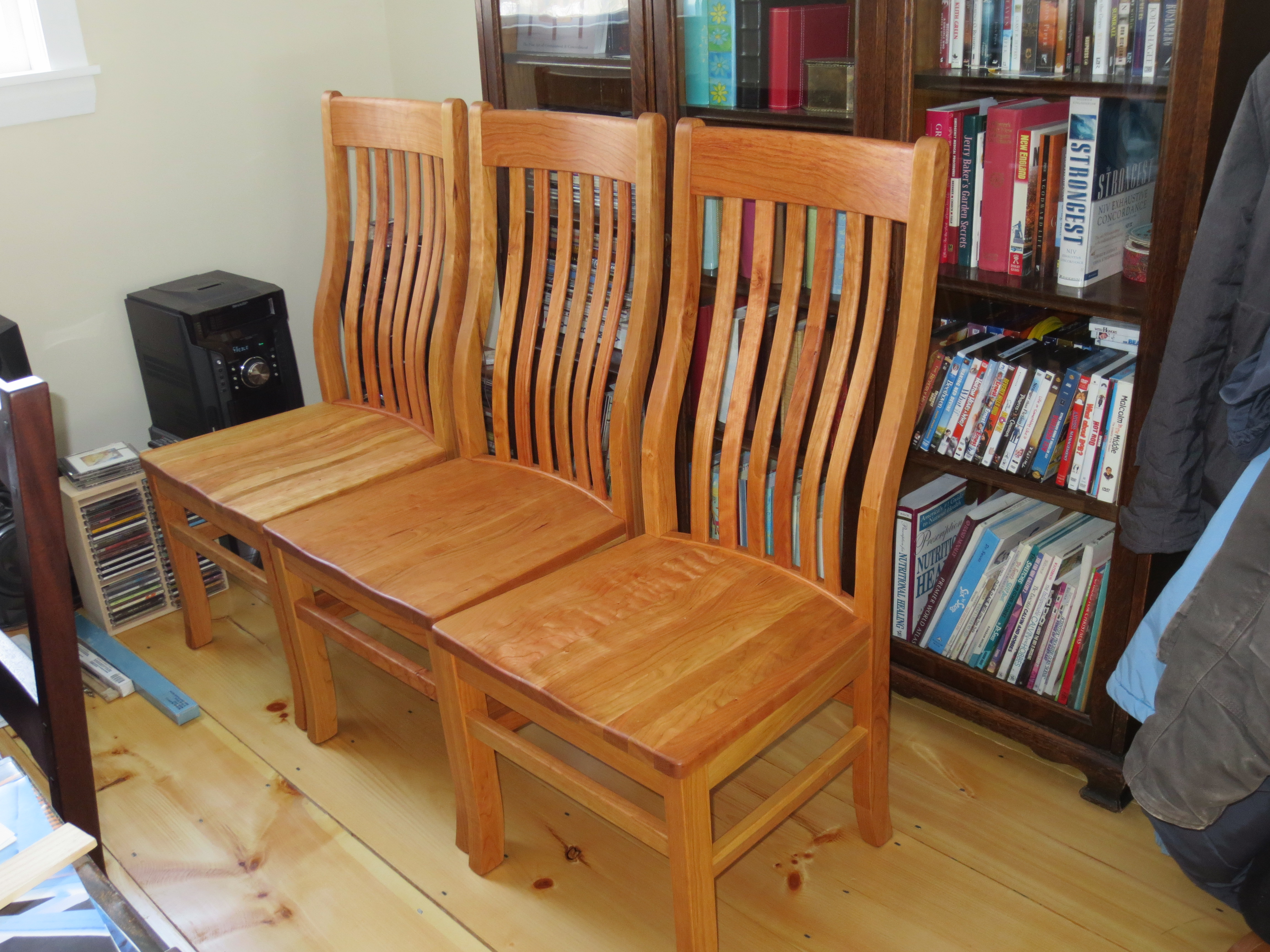 "Solid Cherry ""Mission"" Chairs"