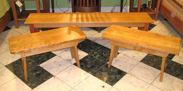 Solid Cherry Backless Benches
