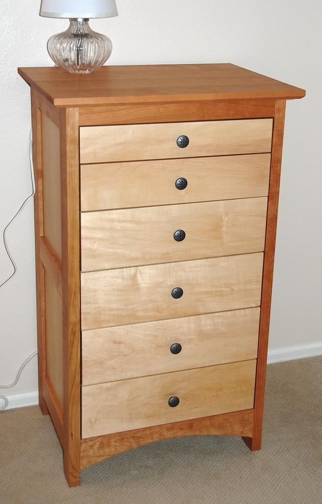 """Cherry and Maple """"Prairie"""" 6-Drawer Dresser"""