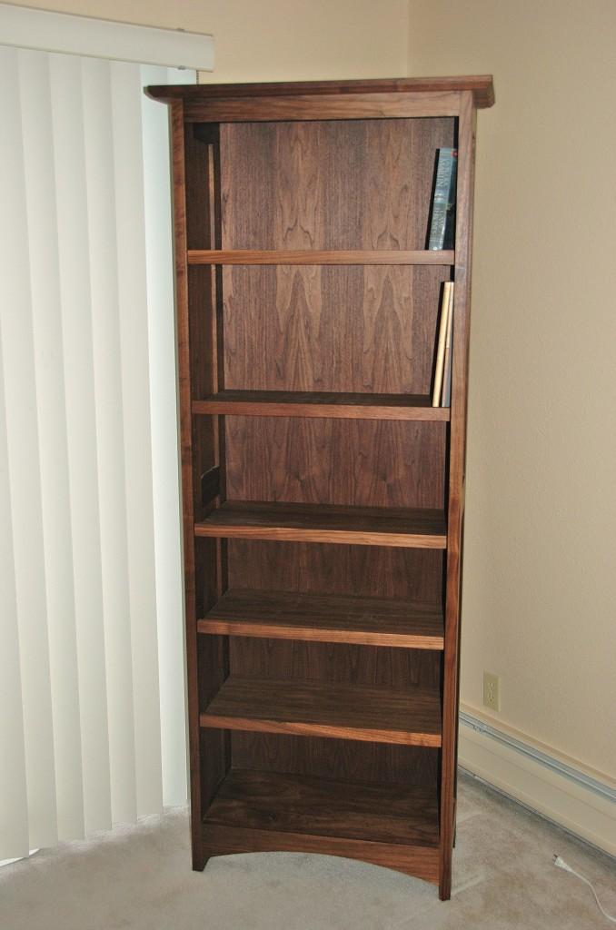 """Walnut """"Prairie"""" Bookcase"""