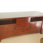 """Custom Solid Cherry """"Colorado"""" Media Center (Stained)"""