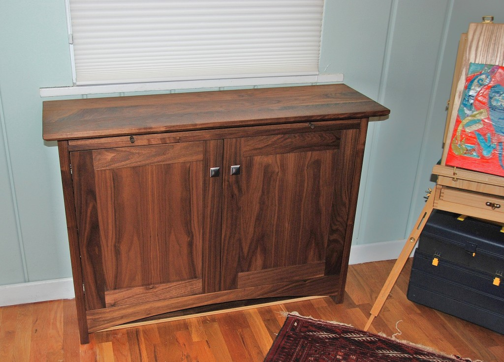 "Walnut ""Prairie"" Craft Cabinet"