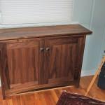 """Solid Walnut """"Prairie"""" Two-Door Cabinet"""