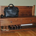 Custom Solid Walnut Entry Bench