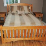 Solid Cherry Slat Arch Queen Bed