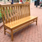 "Solid Oak ""Superior Mission"" Bench"