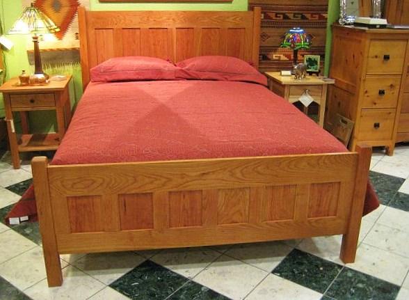 """Solid Cherry Queen """"Craftsman"""" Bed"""