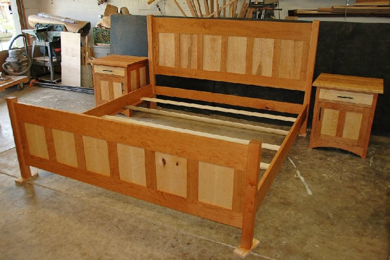 Custom Cherry And Birdseye Maple Quot Craftsman Quot Bed Boulder